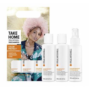 Paul Mitchell Kit Color Protect Shampooing, Après-Shampooing, Spray anti UV 3x100ml