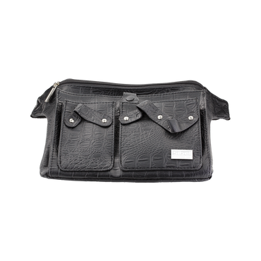Sibel Trousse Belt 3 Croco Noir