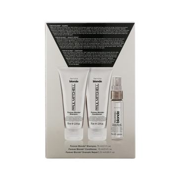 Paul Mitchell Take Home Kit Forever Blonde Shampooing, Après-Shampooing, Spray dramatic Repaire 2x75ml + 25ml