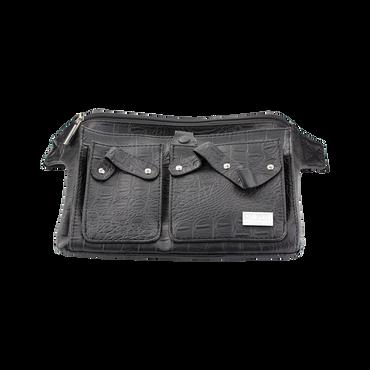 Trousse Belt 3 Croco Noir